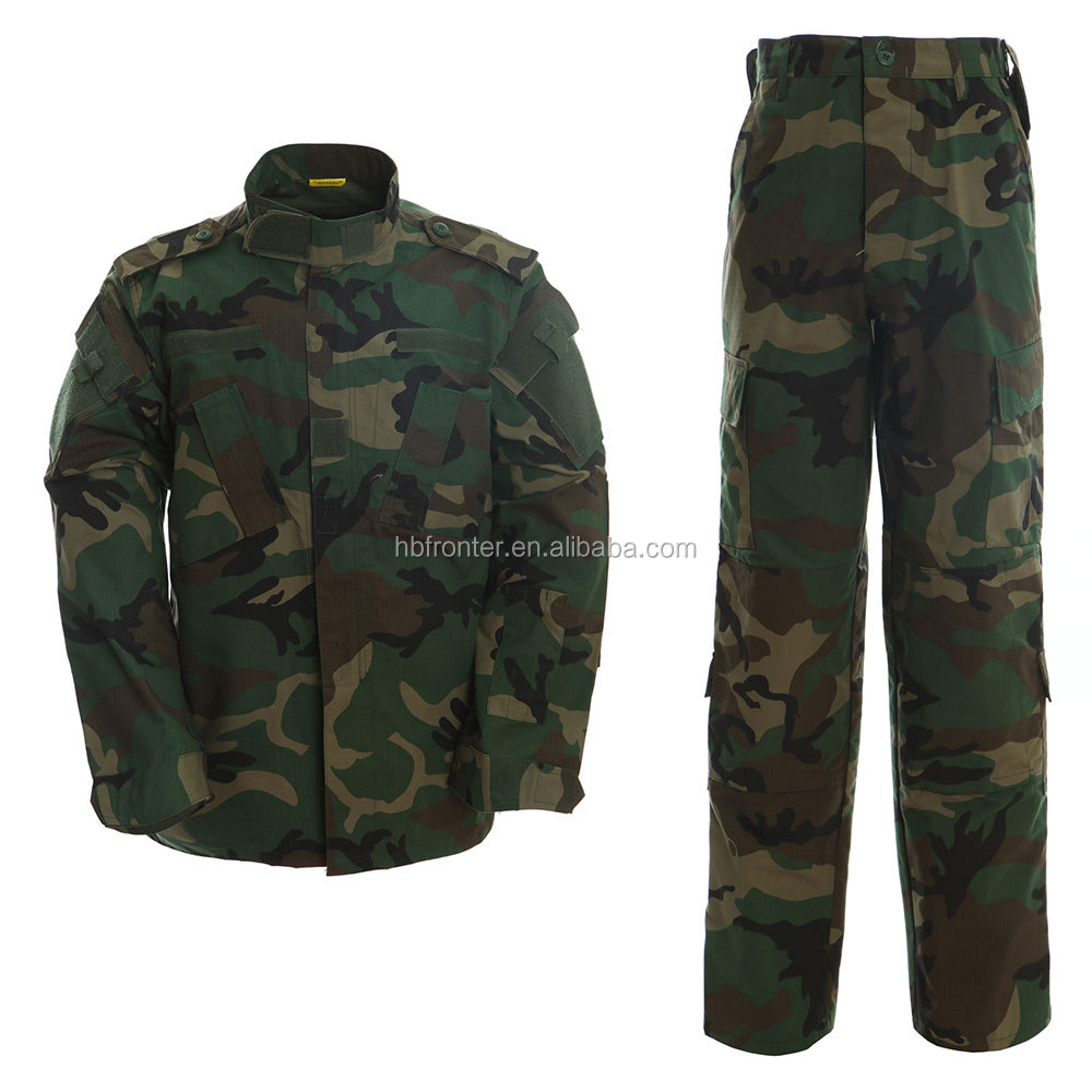 Woodland camouflage tactical ACU military clothing