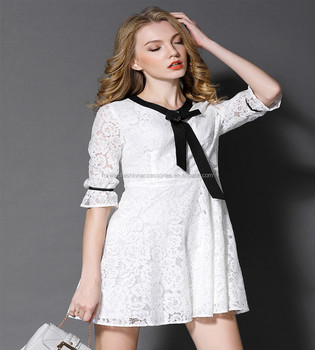 New Style Hot Classy Lace White Splicing Fall Dresses For Women ... 1c2cc0316