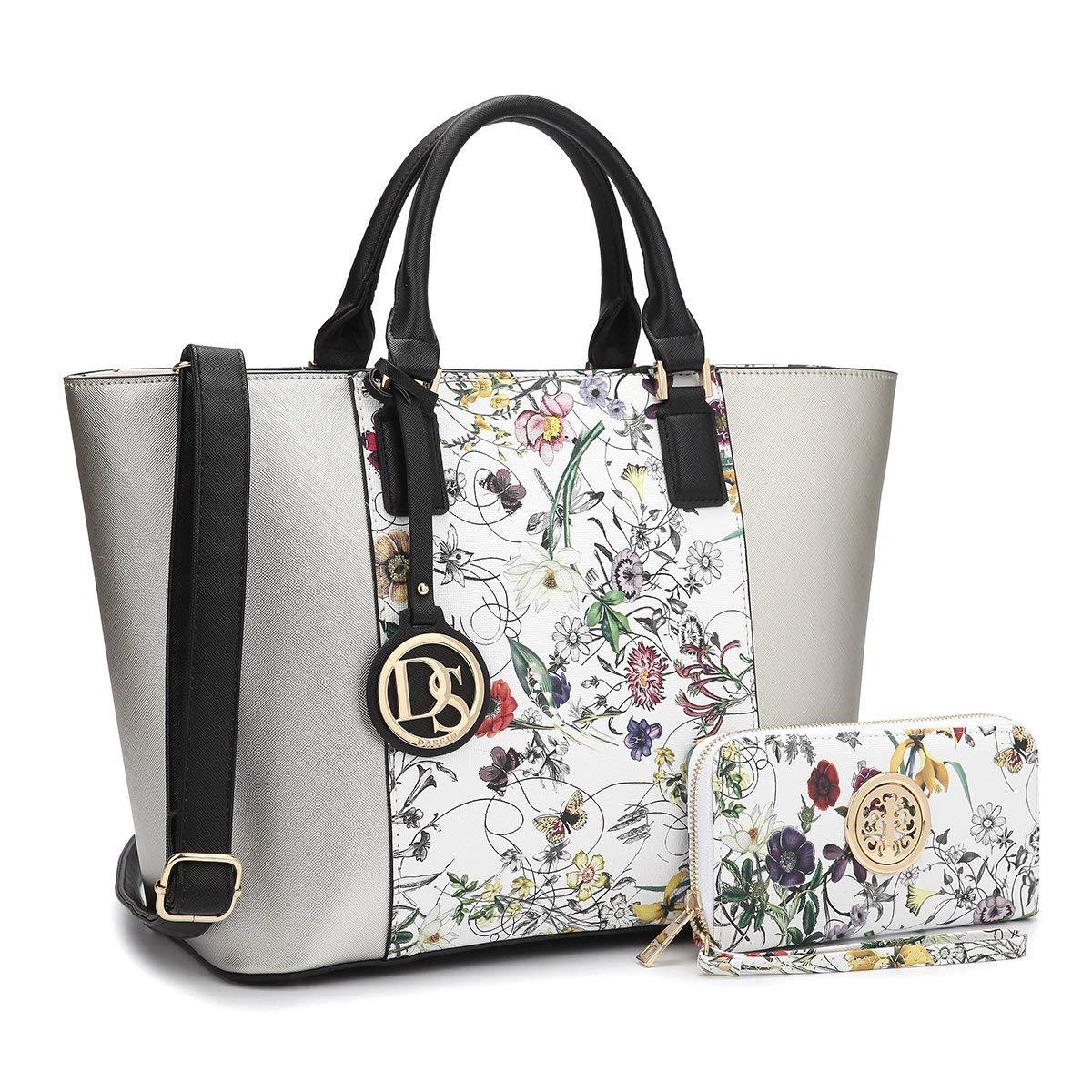 Get Quotations · MMK Collection Designer women Handbag wallet Set Fashion  Tote purse Top handle purse Shoulder bag Satchel e48aff74f5