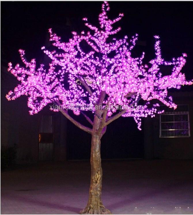 rbol de navidad iluminado al aire libre atractivo m cereza rbol