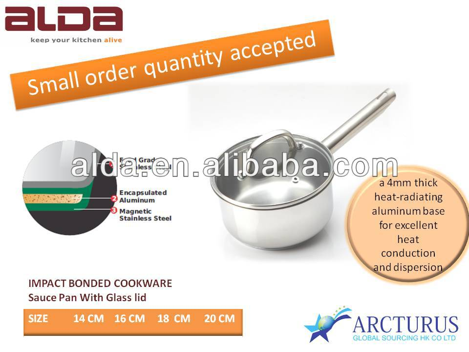 impact bonding cookware/kitchen ware/2014 new design cookware