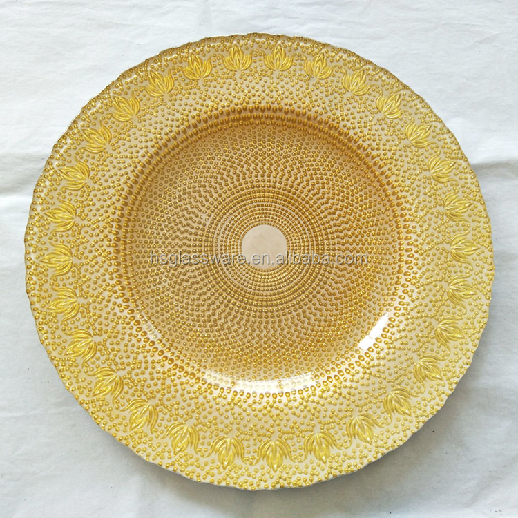 New Arrival Top Selling Glass Wedding Decorative Large <strong>Plates</strong>