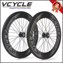 VCYCLE 88mm Depth 23mm Width 700C Tubular Carbon Fiber Bike Wheels for Fixie