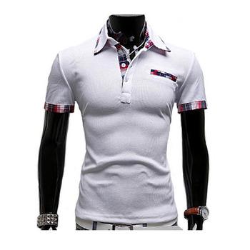 829e5d9b9 Mens Polo Shirt Brands 2017 Male Short Sleeve Fashion Casual Slim False  Pocket Embroidery Polos