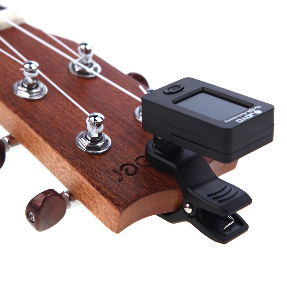 Accessories & Parts Hot Selling 360 Mini Lcd Clip Tuner Chromatic Clip-on Digital Tuner For Acoustic Electric Guitar Bass Violin Ukulele Chargers
