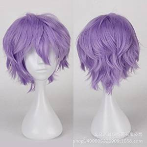 Coolsky Long Wig Light Purple Wig Halloween Cosplay Party Costume Wig for Women (Light Purple)