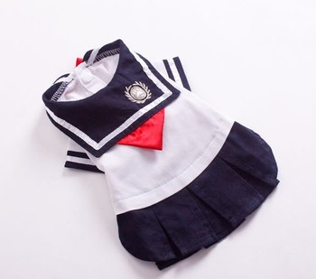 School uniform for pets, hot sell dog school style dress, good quality school costumes