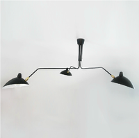 America Three Arm Spider Ceiling Lamp with Sconce chandelier Aluminum adjustable shades