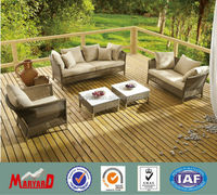 deep seating natural color rattan patio furniture with cushion