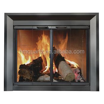 Hm High Temperature Fused Quartz Glass Fireplace Doors Buy