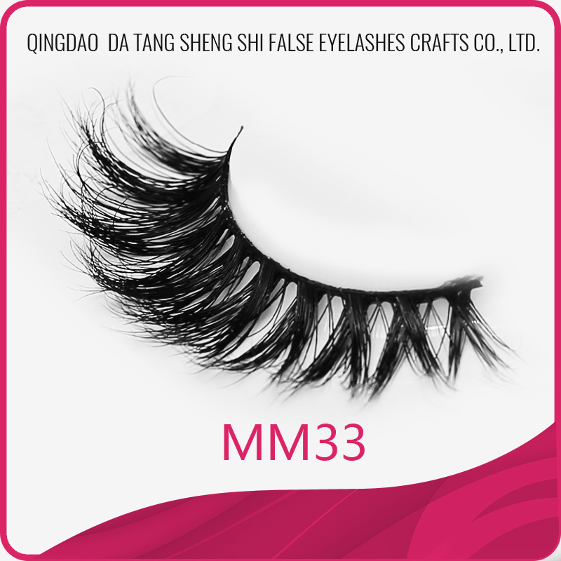 Qingdao factory supply korea style real 3d mink eyelashes