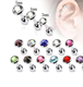 New Crystal Cartilage Barbell Piercing Earrings Wome Ear Stud Tragus Earring