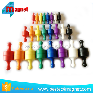 Plastic Colorful Office Memo Magnets Magnetic Push Pins