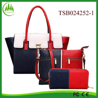 purses and handbags 2016 yiwu market PU leather hand bags ladies handbag set