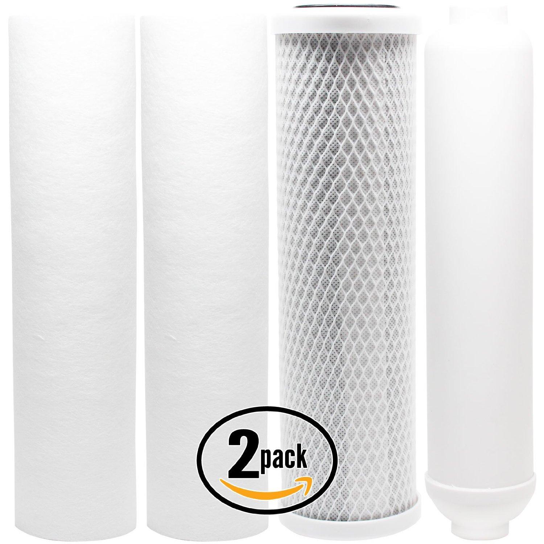 2-Pack Denali Pure Universal 10 inch Carbon Block, Sediment, Inline Filter - Compatible with PurePro EC105, PurePro EC105P, PurePro EC106M-P, PurePro RO105, PurePro RO102, PurePro HRO-200, PurePro HRO