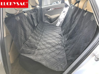 Quilted dog car seat cover luxury pet car seat cover