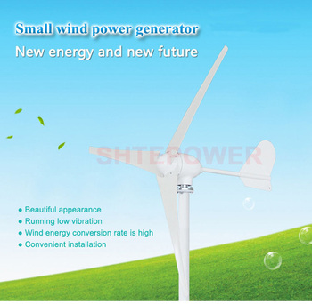 500W power generator wind turbines AC 24V system Three phase AC permanent magnet generator three blades
