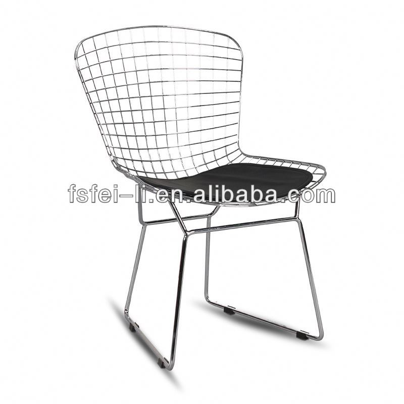 Cheap iron chair outdoor metal bistro chair for dining furniture