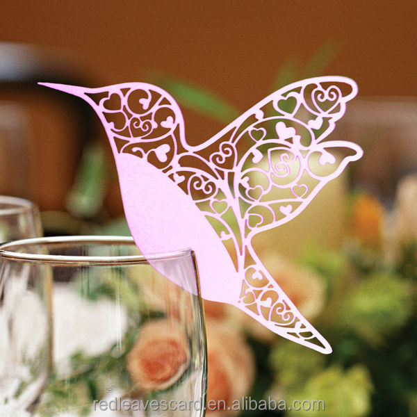 laser cut mothers'day gifts /baby shower invitation decoration vase place card holder