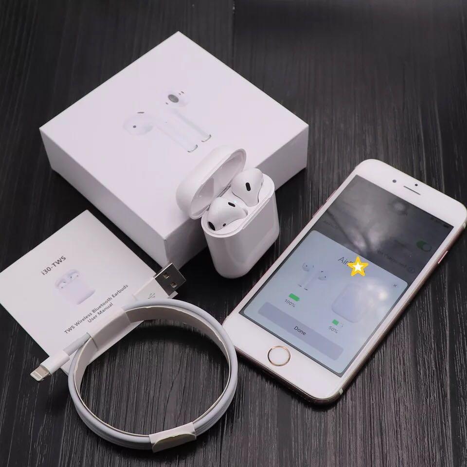 I30 I60 I12 I10 Tws I9s Audifonos BT Electronic Wireless Earbuds 2019 Earphone Headphones i30 tws, White