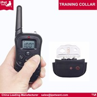 2017 amazon top sell WATERPROOF 300 YARDS electric shock remote dog training collar