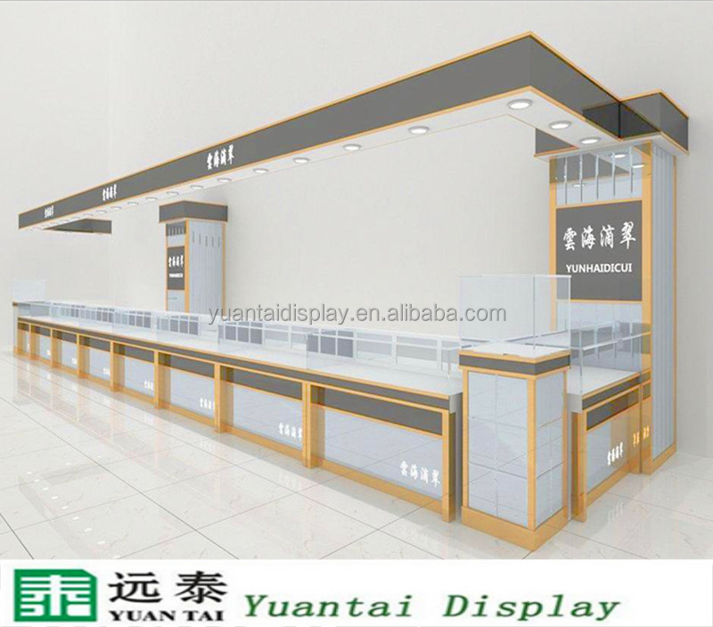 white tempered glass jewelry display counter table for shops