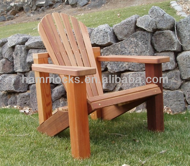 Outdoor Natural Wood Adirondack Chair - Unfinished