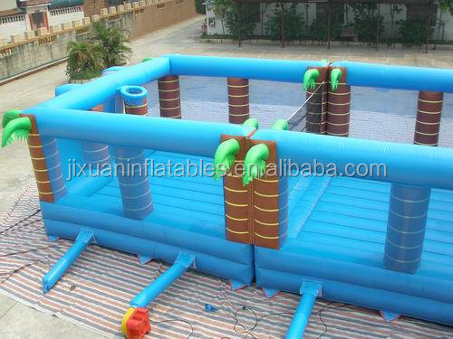 Palm Tree Inflatable Football/Basketball/Volleyball/Tennis Field For Sports With Inflatable Ground Mat