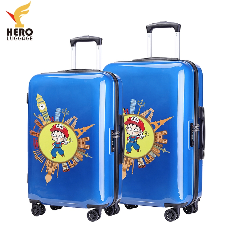 Zipper Pattern Color Vintage Plastic Cover Roll Child Luggage Suitcase