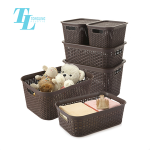 Small large size wholesale home toy PP plastic basket storage