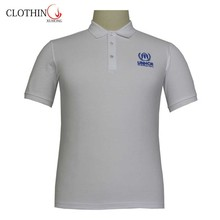 contrast color three button high quality golf polo shirt