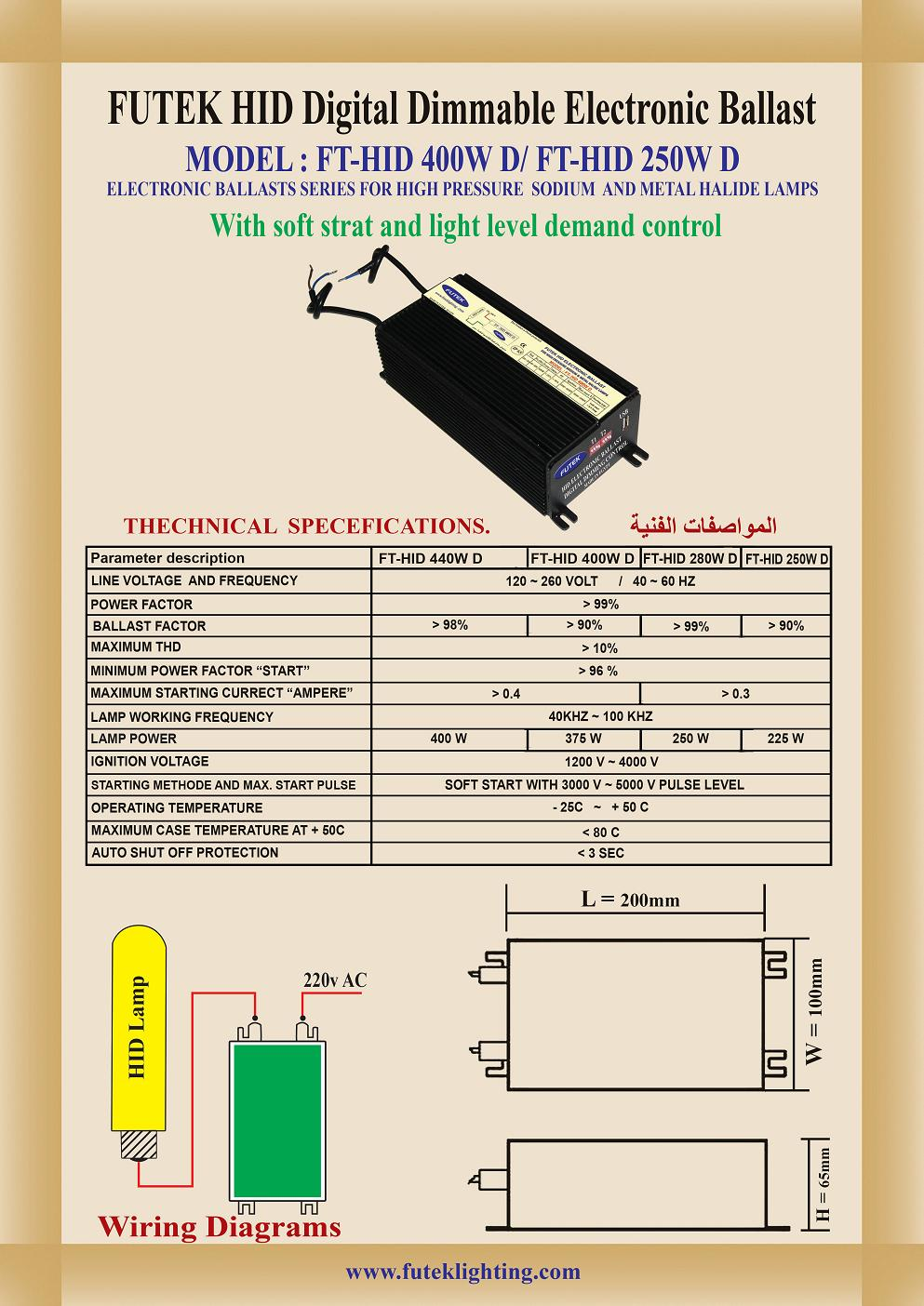 Hid Dimmable Ballast Technical Specs View High Pressure Sodium Wiring Diagram Futek Product Details From Egyptian Micro Electronics On Alibabacom