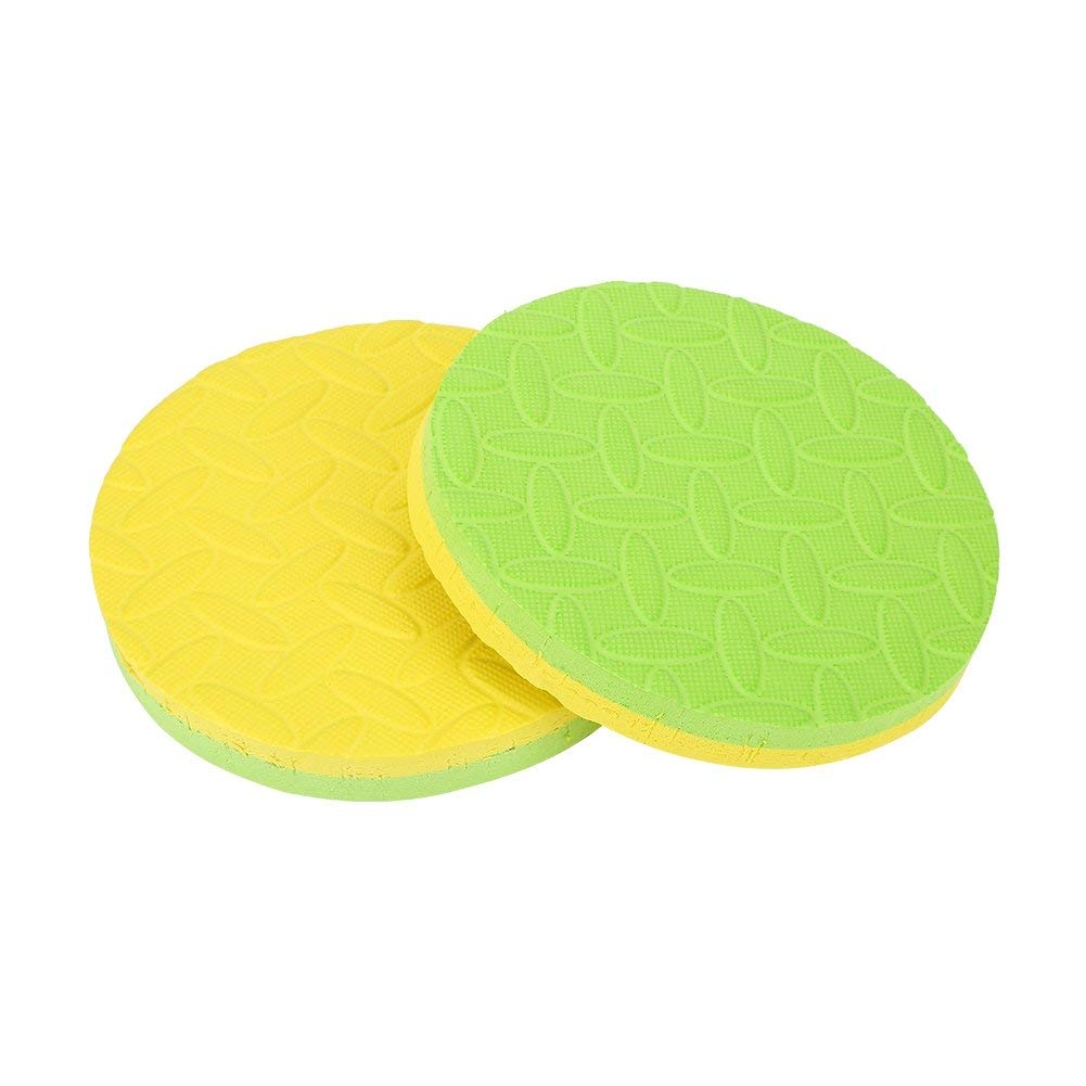 Dilwe Yoga Elbow Pads, 2Pcs Lightweight Quality EVA Foam Round Yoga Mat Perfect for Training Disk Kneeling Support Eliminate Pain on Knee Elbow Wrist