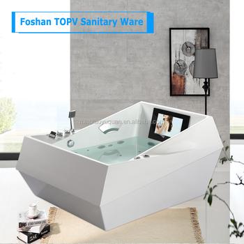 Luxuriöse Europäische Badezimmer-art Freistehende Doppelte  Whirlpool-badewanne Mit Eingebautem Wasserdichtem Fernsehapparat Für  Verkauf - Buy ...