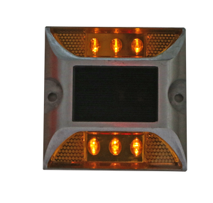 white red yellow blue reflectors Solar powered road studs