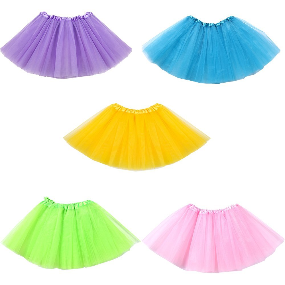 05b2792bd7 Get Quotations · Swity Home 5 Pack Princess Ballet Tutus, Girls Tutus Skirt  Party Tutus