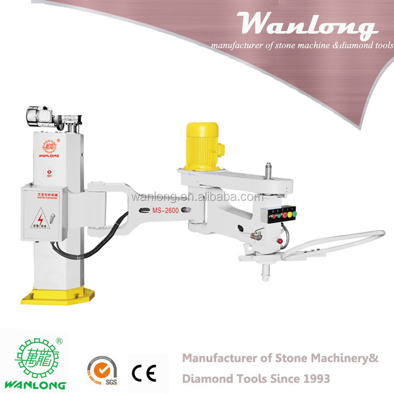 Factory Price wanlong manual hand polishing machine, swing arm grinder for marble and granit