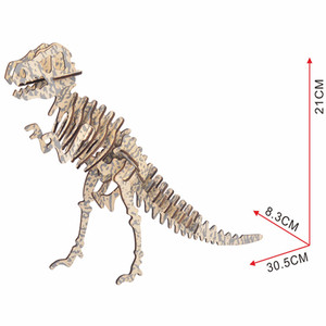 Oray 3D Wooden Puzzle Dinosaur DIY Laser Cut Assemble Model Kits Educational Woodcraft Jigsaw Toys For Kids