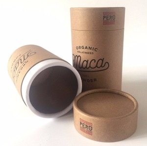 Eco friendly paper cylinder packaging box for tea/herbs/coffee packaging