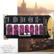 Sexy Purple Lace Nail Arts Sticker 14 pcs set Waterproof Nail Decal Art Sticker Gel Polish