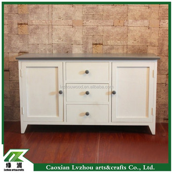 Perfect Simple Wood Cabinet With Drawers And Doors For TV Stand