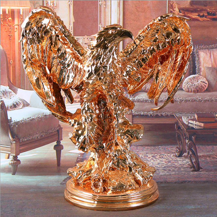 resin large eagle statues art furnishing articles and office furniture decoration bar