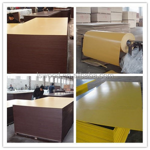 Marine HDO Concrete Form Plywood, Yellow Film Faced Plywood concrete FormPly