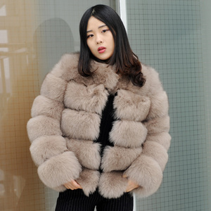 CX-G-A-62C Winter High Quality Women Real Natural Fox Fur Coat