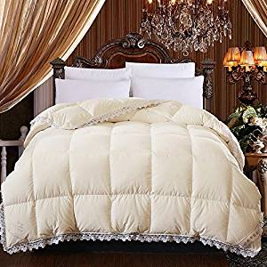 Bedding Quilt Duvet Comforter 95% Duck Down Quilt Washed Cotton Silk White Duck Down Winter Was The Core Thickened Keep Warm Feather Quilt King 220X240Cm