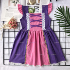 wholesale kids rapunzel story princess dress children clothes girl dresses girl knitted boutique clothing