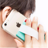 Mobile phone sticky card money pouch with elastic finger grip