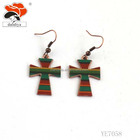 latest fancy colorful cross jewelry for fashion women/kids earrings design alloy earring