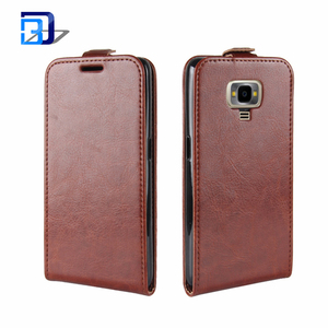 New Phone Accessories Mobile Fashion Vertical Open Flip Clasp UP Down Case Premium PU Leather Cover Pouch For Samsung Galaxy Z4