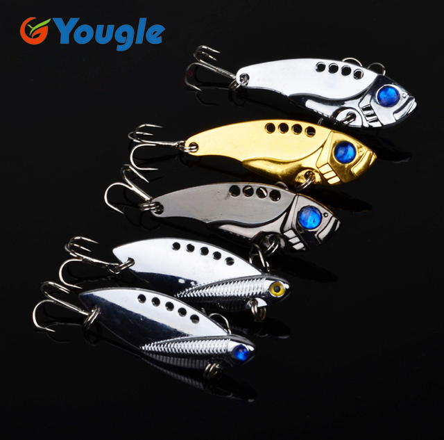 Fishing Lure Artificial Bait Metal Bionic Fishing Tackle sequins spinner HK